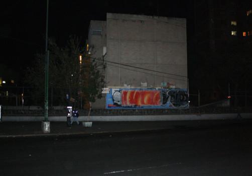 Santiago Robles, Pop Off, Aparición Repentina, Intervención Urbana, Intervención Pictórica, Acción colaborativa, Pintura, Painting, Interventionism, Aurora 2