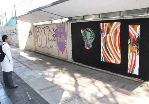 Santiago Robles, Pop Off, Aparición Repentina, Intervención Urbana, Intervención Pictórica, Acción colaborativa, Pintura, Painting, Interventionism, Salmonela, Art