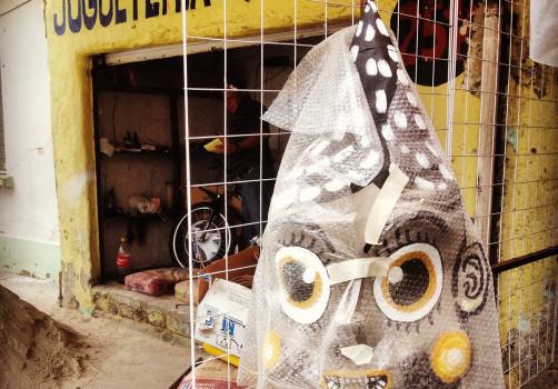 Santiago Robles, Estado Estado Fallido Estallido, Construcción de piñatas, Construction, Piñata, Enanos, Blancanieves, Snow White, Jardín 4, Todos, All the dwarfs, cohetes, Merced Balbuena 1