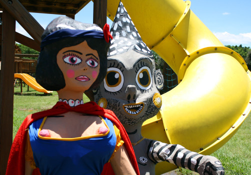 Santiago Robles, Estado Estado Fallido Estallido, Construcción de piñatas, Construction, Piñata, Enanos, Blancanieves, Snow White, Jardín 2