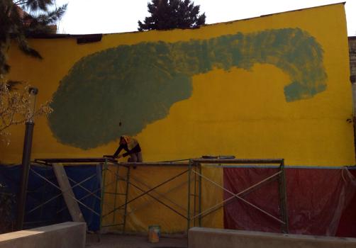 Santiago Robles, Jardín Tepaneca, Mural, Azcapotzalco, Pintura, Vecinos, Proceso 13