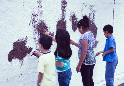 Santiago Robles, Jardín Tepaneca, Mural, Azcapotzalco, Pintura, Vecinos, Proceso 2