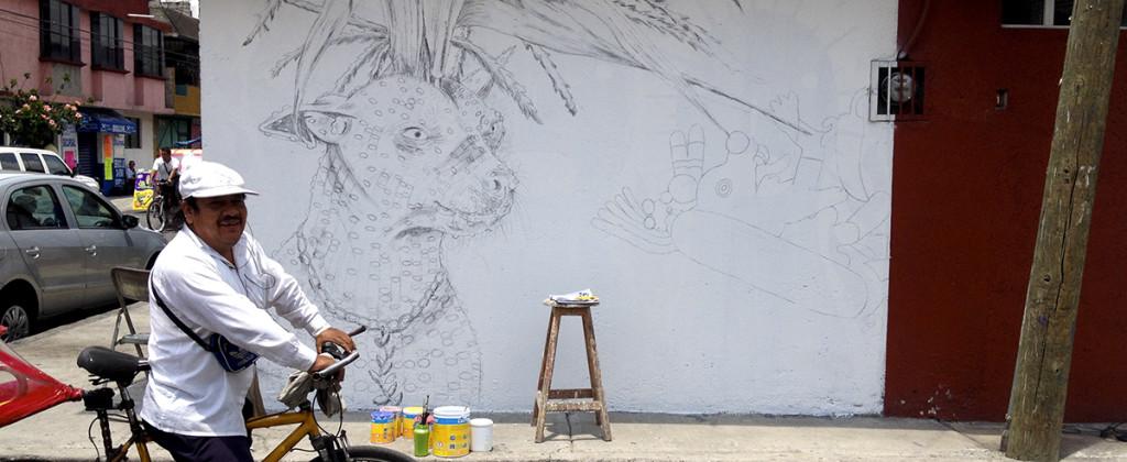 Santiago Robles, Pieza a muro, La Cebada, Proceso, Korn, Maíz, Pared original, Análisis de pared, Realización 1