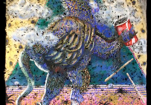 Santiago Robles, Pop Off, Aparición Repentina, Intervención Urbana, Intervención, Pintura, Painting, Interventionism, Sífilis, Parte privada 2