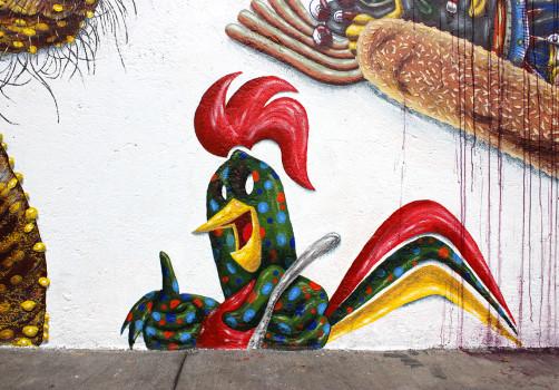 Santiago Robles, Pieza a muro, La Cebada, Proceso, Korn, Maíz, Pared original, Pintura, Final 5