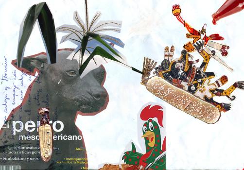 Santiago Robles, Pieza a muro, La Cebada, Collage, Recorte, Boceto, Korn, Maíz, Sketch 1
