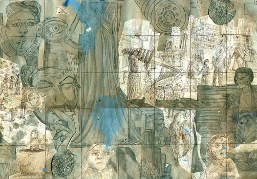 Santiago Robles, Pop Off, Aparición Repentina, Intervención Urbana, Intervención Pictórica, Acción colaborativa, Pintura, Painting, Interventionism, Boceto, Sketch, Te Vi 1