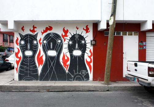 Santiago Robles, Pieza a muro, La Cebada, Proceso, Korn, Maíz, Pared original