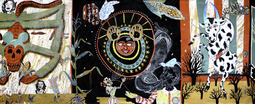 Santiago Robles, Pop Off, Aparición Repentina, Intervención Urbana, Intervención Pictórica, Acción colaborativa, Pintura, Painting, Interventionism, Espantoso Suceso 2