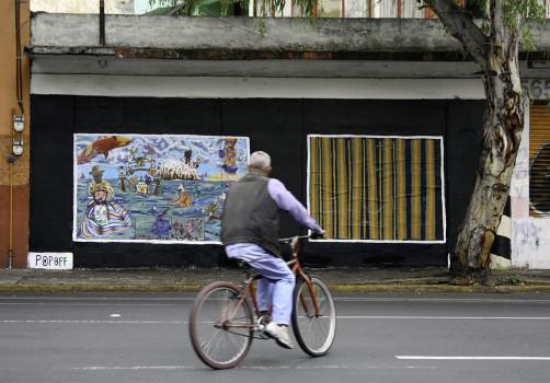 Santiago Robles, Pop Off, Aparición Repentina, Intervención Urbana, Intervención Pictórica, Acción colaborativa, Pintura, Painting, Interventionism, Playa-En el mar 4