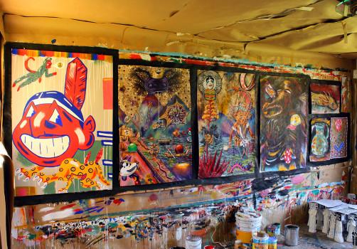 Santiago Robles, Pop Off, Aparición Repentina, Intervención Urbana, Intervención Pictórica, Acción colaborativa, Pintura, Painting, Interventionism, Vitrina Pop Off 2