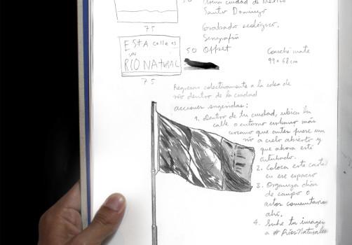 Santiago Robles, Río, Río Natural, Proyecto Ríos naturales, Arte visual, Visual art, Intervención., Pintura, Cartel, Impresión, Intervensionism, Ciudad de México., Cuaderno de trabajo, Proceso, Process 2