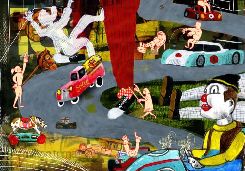 Santiago Robles, Santiago Solís, Popof, Ilustración, Illustration, Drawing, Dibujo, Pintura, Painting, Colaboración, Collaboration, Primer Catálogo Iberoamericano de Ilustración, Fundación SM, El Ilustradero, FIL Guadalajara, Premio, Award 3