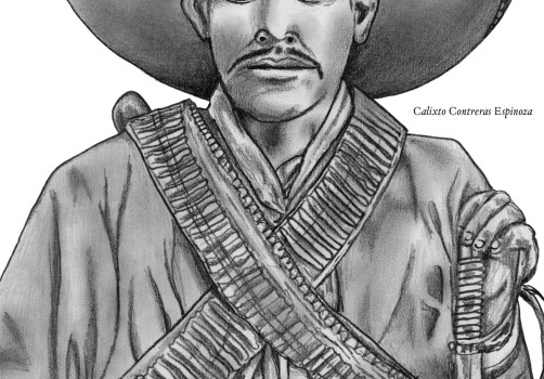 Santiago Robles, Santiago Solís, Popof, Dibujo, Drawing, Pancho Villa, Museo Nacional de las Intervenciones, Calixto Contreras