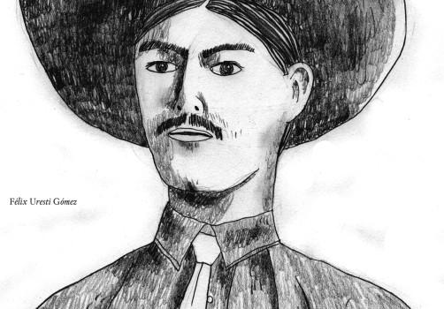 Santiago Robles, Santiago Solís, Popof, Dibujo, Drawing, Pancho Villa, Museo Nacional de las Intervenciones, Félix Uresti