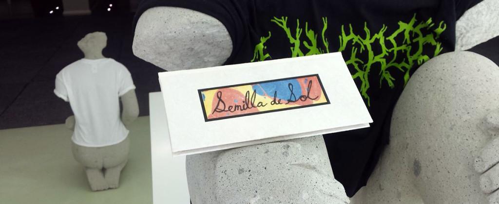 Santiago Robles, Semilla de sol, Libro de artista, art book, graphic, drawing, grafica, dibujo, tinte natural, premio, award, UNAM