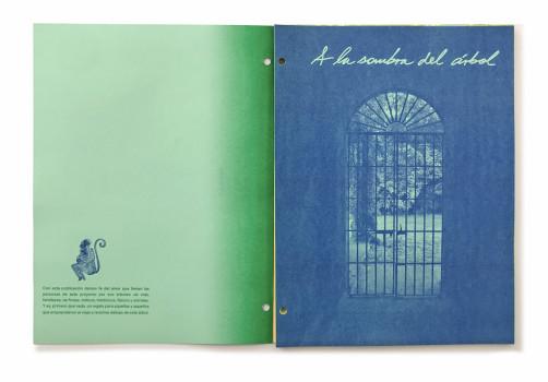 SantiagoRobles, JimenaGarcia, AndreaCarrillo, EdithSebastián, Print, Impresión, AlaSombradelArbol, SARA, Graphic, Tree, ArtBook, LibroArte, Riso, ContemporaryArt, ArteContemporaneo