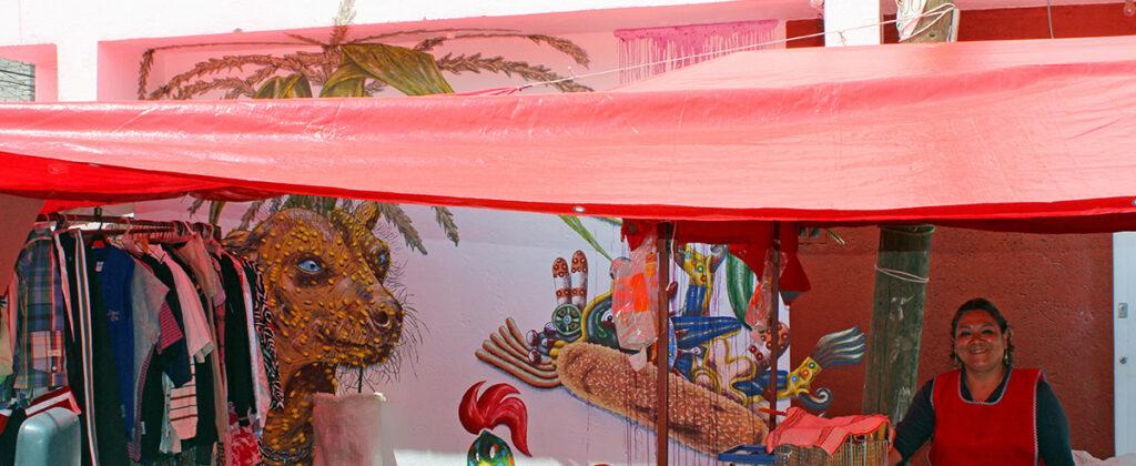SantiagoRobles, ElCultivo, Art, VisualArt, Wall, WallPainting, Graphic, LaCebada, DemianFlores, Maize, Xolo, Korn, ContemporaryArt