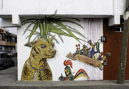 SantiagoRobles, Xolo, Maíz, Maize, Wall, Painting, Draw, ContemporaryArt, WallPainting, Korn, VisualArt