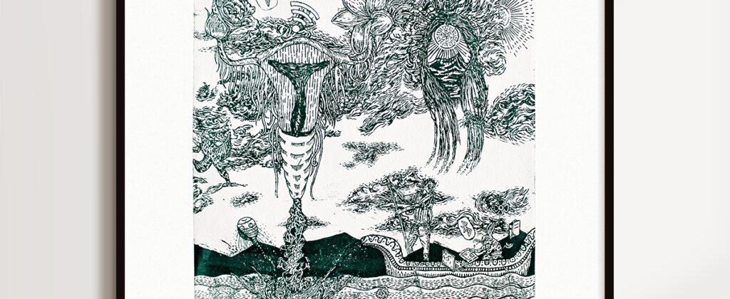 SantiagoRobles, Marina, Graphic, Draw, Drawing, TigreEdiciones, Ink, Añil, Print