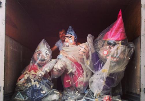 Santiago Robles, Estado Estado Fallido Estallido, Construcción de piñatas, Construction, Piñata, Enanos, Blancanieves, Snow White, Jardín 4, Todos, All the dwarfs, cohetes, Merced Balbuena 2