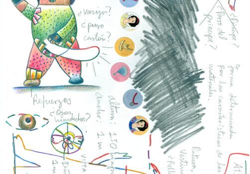 SantiagoRobles, Acción, Action, Estado, EstadoFallido, Judas, Estallido, Piñata, Cartoneria, Explosión, Arte, Participación, Art, Collective
