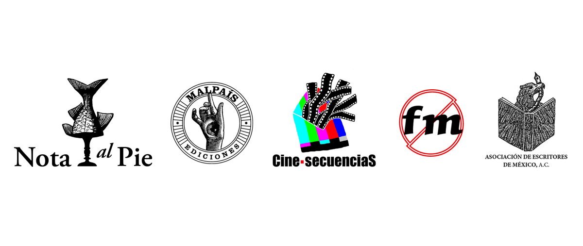 Santiago Robles, Logotipos, Logo, Design, Diseño, Logotype, NoFM, Nota al pie, Malpaís Ediciones, Cine-secuenciaS, Asociación de Escritores de México