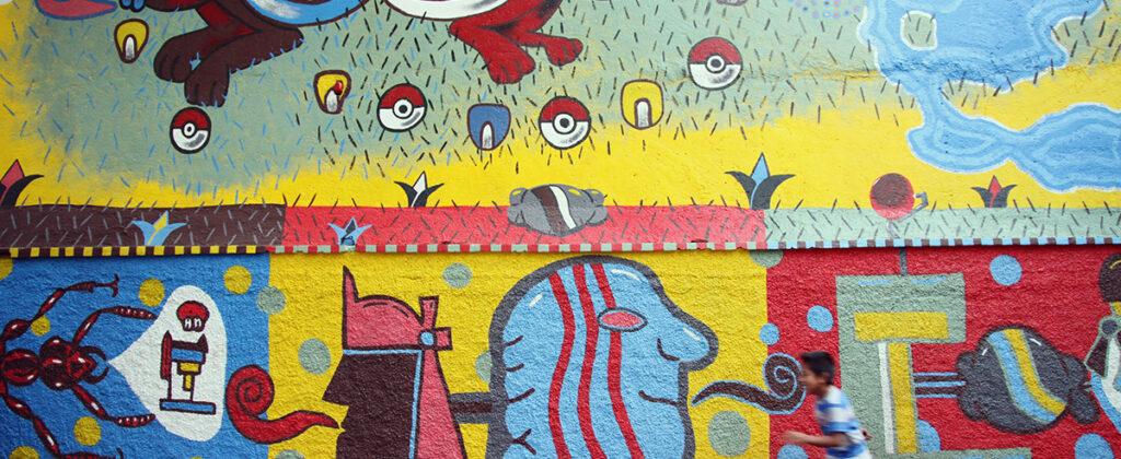 SantiagoRobles, Mural, Art, MuralArt, Painting, Colaboracion, JardinTepaneca, Participacion, Paint,