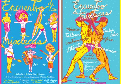 Santiago Robles, Diseño, Diseño de cartel, Ilustración, Design, Poster Design, Illustration, Festival de las Mixtecas, Demián Flores, La Curtiduría, Conaculta, Ceculta, Oaxaca, Mixteca, 2014