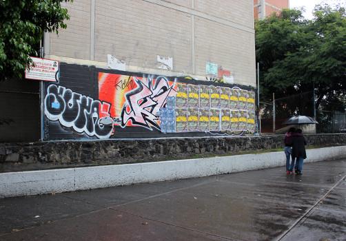 Santiago Robles, Pop Off, Aparición Repentina, Intervención Urbana, Intervención Pictórica, Acción colaborativa, Pintura, Aurora 3