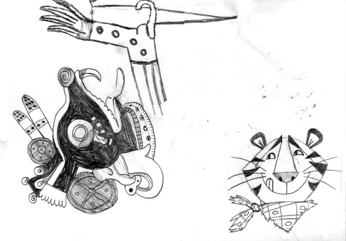 Santiago Robles, Pieza a muro, La Cebada, Dibujo, Drawing, Graphic, Gráfica, Referencia 1, Reference 2
