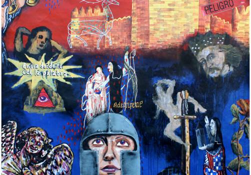 Santiago Robles, Pop Off, Aparición Repentina, Intervención Urbana, Intervención Pictórica, Acción colaborativa, Pintura, Painting, Interventionism, Ultramarinos finos 2
