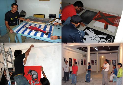 Transporte Colectivo, Icograda, Diseño de cartel, Poster, Poster Design, La Habana, Cuba, Design Culture, Santiago Robles, Centro de Desarrollo de las Artes Visuales, Montaje