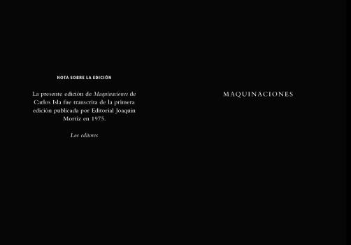 Santiago Robles, Malpaís Ediciones, Archivo Negro de la Poesía Mexicana, Editorial Mexicana, Libro, Libros, Colección, Poesía, Gráfica, Diseño, Diseño Editorial, Carlos Isla, Maquinaciones 1