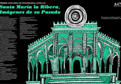Santiago Robles, Diseño, Diseño de cartel, Ilustración, Design, Poster Design, Illustration, Santa María la Ribera, Imágenes de sus Pasado, Biblioteca Móvil, Alumnos 47