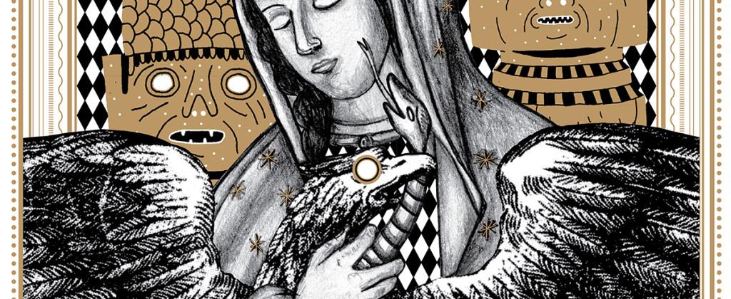 Santiago Robles, Diseño, Diseño de cartel, Ilustración, Design, Poster Design, Illustration, Virgen, Bicentenario, Santiago Solís, 2010, 75 Grados Color