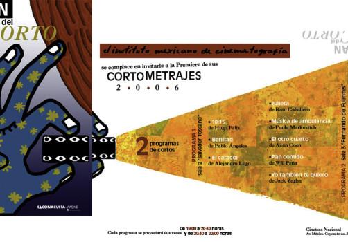 Santiago Robles, Diseño, Design, Invitación, Invitation, IMCINE, Noche del corto, Cine, Movies, Cinema, Diseño gráfico, Graphic design