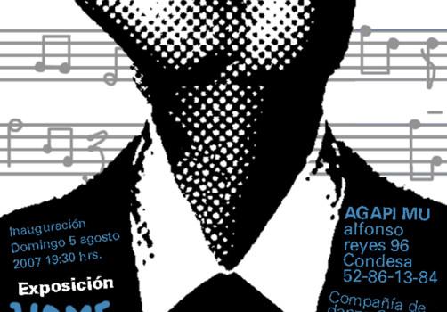 Santiago Robles, Diseño, Design, Invitación, Invitation, Mikis Theodorakis, Eric del Castillo, Elizabeth Betancourt, Homenaje, Hommage