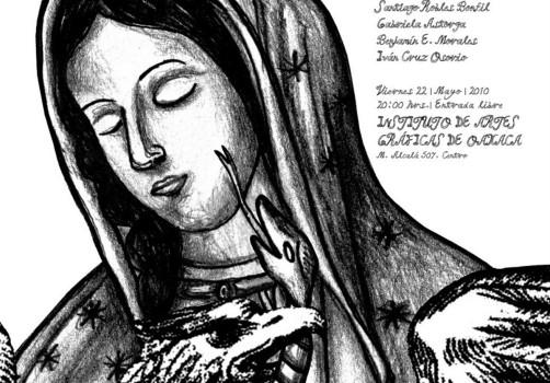 Santiago Robles, Diseño, Design, Invitación, Invitation, Viento en vela, IAGO, Oaxaca, Virgen de Guadalupe, Carlos Franco, Revista, Magazine, Literatura, Poesía, Artes visuales, Benjamín Morales,