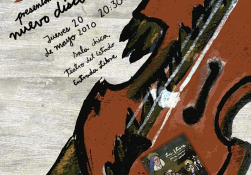 Santiago Robles, Diseño, Design, Invitación, Invitation, Los Utrera, Son jarocho, Demián Flores, Gabriel Mendoza, Veracruz, Xalapa, Para curar un dolor, CD,