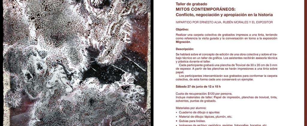 Santiago Robles, Migración, La Trampa, Gráfica, Graphic, Ernesto Alva, Rubén Morales, Christian Barragán, Arte visual, Visual Art, Arte Contemporáneo, Contemporary Art, Drawing, Dibujo, Exposición, Exhibition