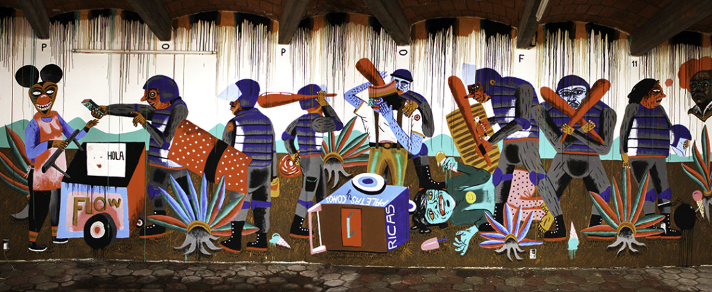 Santiago Robles, Santiago Solís, Popof, Mural, Gráfica, Graphic, Painting, Pintura, Oaxaca, México, La Curtiduría, Popof, Guillermo Bonfil Batalla, Demián Flores, Gandalf Gaván, Arte, Art, Visual art, All city canvas, Guillermo Bonfil Batalla