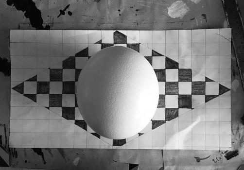 Santiago Robles, Gráfica, Graphic, Visual art, arte visual, Huevo de avestruz, Egg, Intervención, Intervention, Aerodynamics