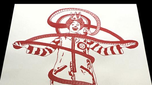 Santiago Robles, Print, Silkscreen, Impresión, Graphic, Gráfica, Serigrafía, Arte visual, Visual art, Arte contemporáneo, Contemporary art, Encontramos la señal, Ronald McDonald