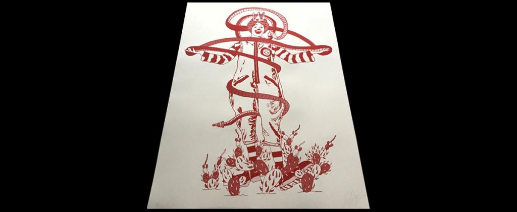 Santiago Robles, Print, Silkscreen, Impresión, Graphic, Gráfica, Serigrafía, Arte visual, Visual art, Arte contemporáneo, Contemporariy art, Encontramos la señal, Ronald McDonald