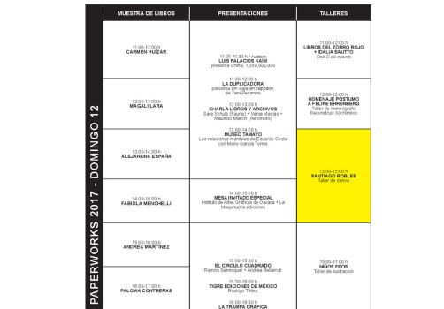 SantiagoRobles, PaperWorks, Taller, MuseoTamayo, WorkShop, Deriva, Editorial, Taller