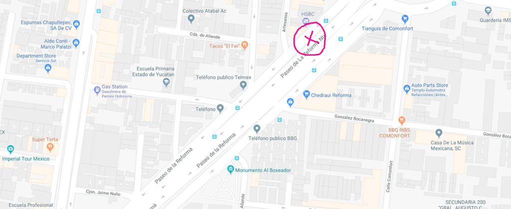 SantiagoRobles, Hoyessiempretodavia, EspacioPublico, PublicSpace, LadronGaleria, Rutadelaamistad, map