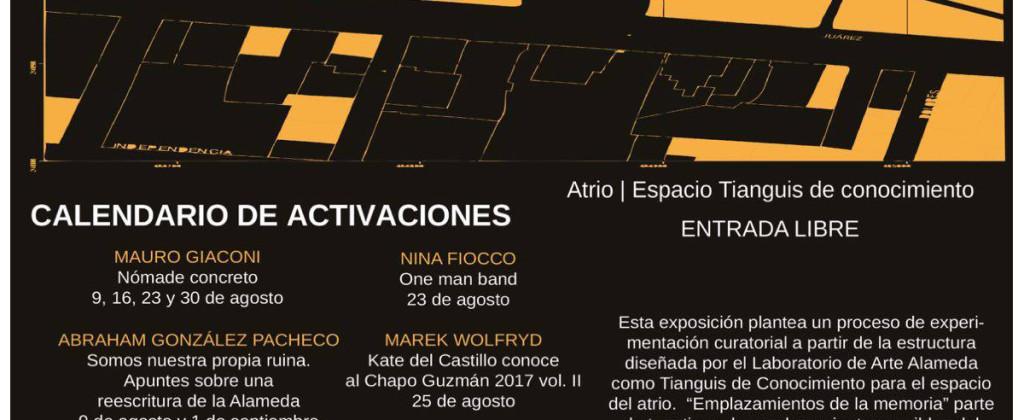 SantiagoRobles, LaboratorioArteAlameda, Art, ContemporaryArt, ArteContemporáneo, ArteParticipativo, GemmaArgüello, TaniaAedo, Emplazamientosdelamemoria,