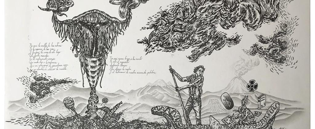 SantiagoRobles, LaSeñal, TheSignal, Grafica, Graphic, Litografía, Litography, LaMaquina, FranciscoLimon, Oaxaca, Print, Printing, Art, ContemporaryArt, ArteContemporaneo, Oaxaca