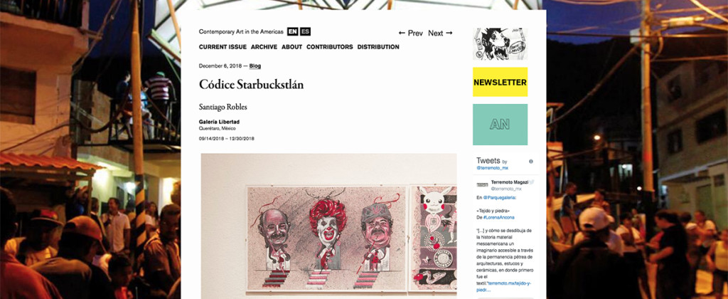 SantiagoRobles, Terremoto, Starbuckstlan, CodiceStarbuckstlan, ContemporaryArt, ArteContemporaneo, Codex, Graphic, Grafica, GaleriaLibertad